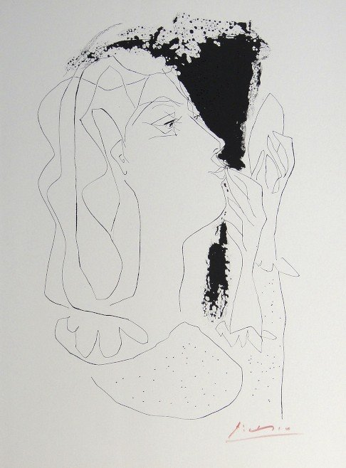 """PABLO PICASSO, signed Lithograph """"Gongora"""", 1962"""
