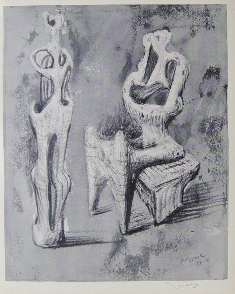 Henry Moore, signed Lithograph, 1940