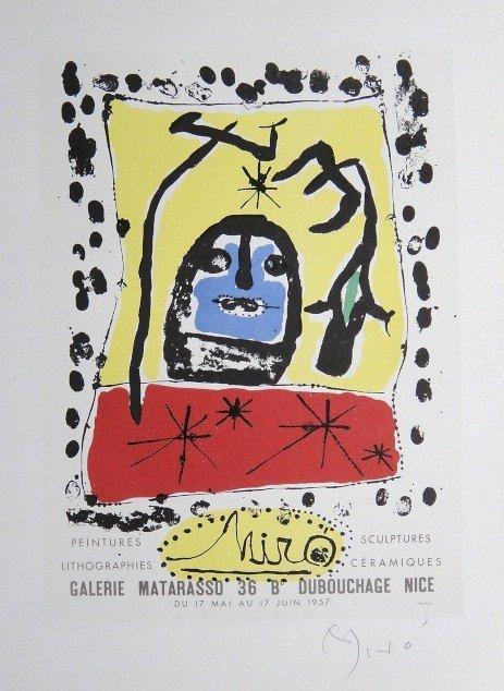 Joan Miro Lithograph Ecole de Paris