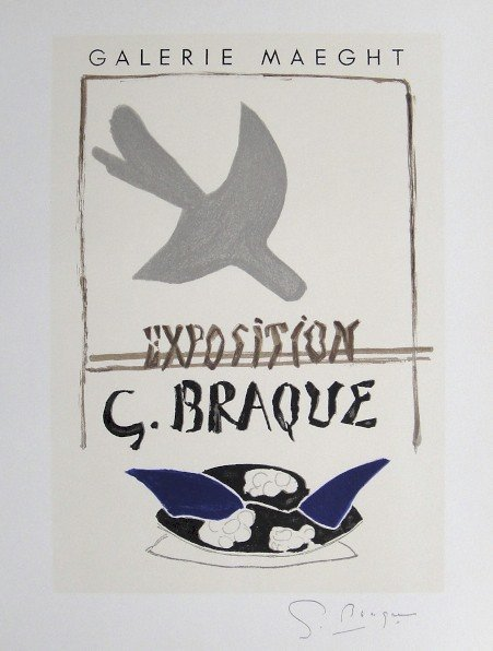 Georges Braque Lithograph Ecole de Paris