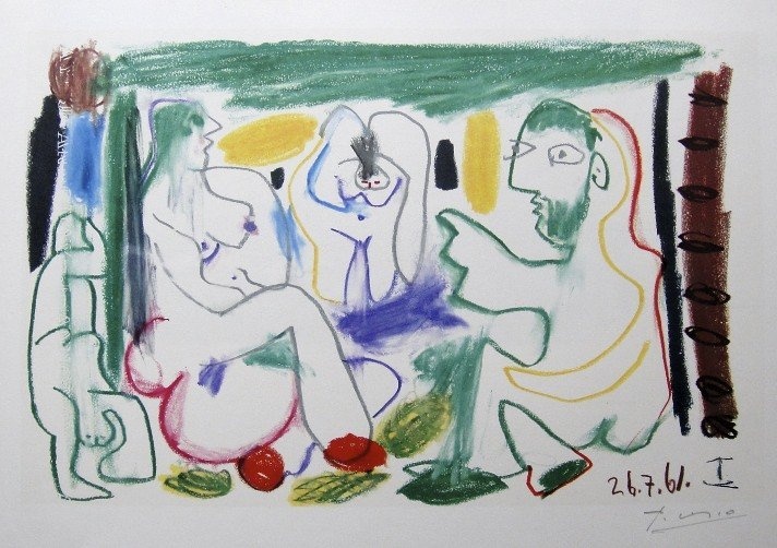 PABLO PICASSO, signed Lithograph, 1963