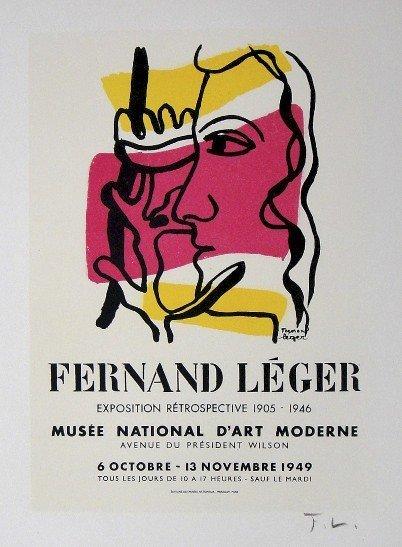 Fernand Leger Lithograph Ecole de Paris