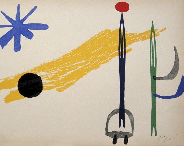 JOAN MIRO, Signed Lithographie 1954