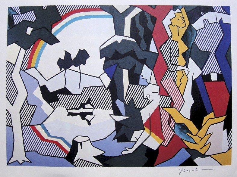 ROY LICHTENSTEIN, Signed Print, 1982