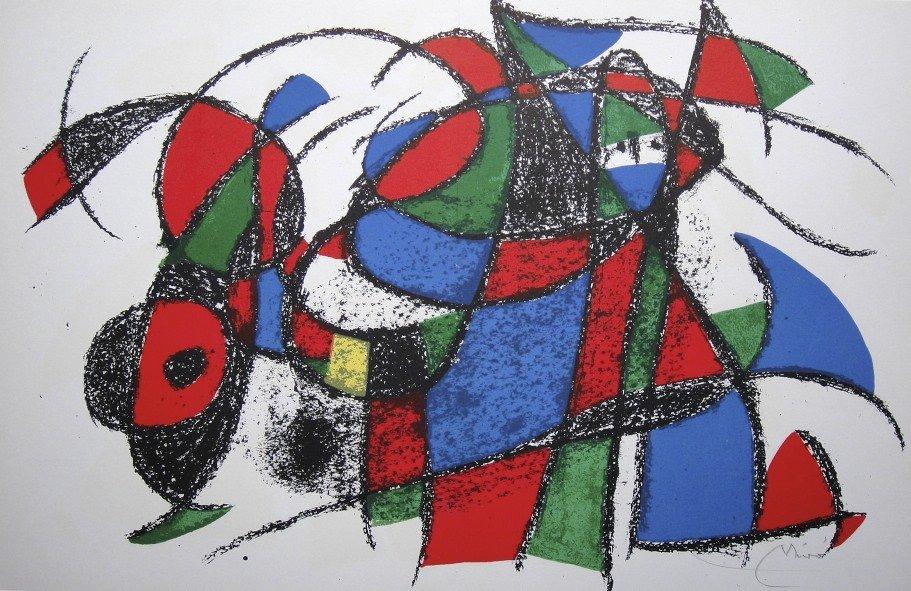 JOAN MIRO, Original signed Lihtograph, 1975