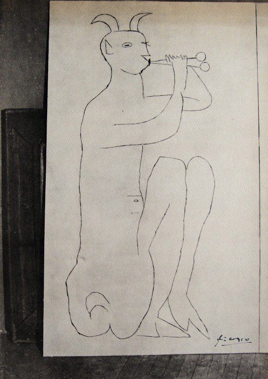 Pablo Picasso, signed Lithograph Antibes, 1948
