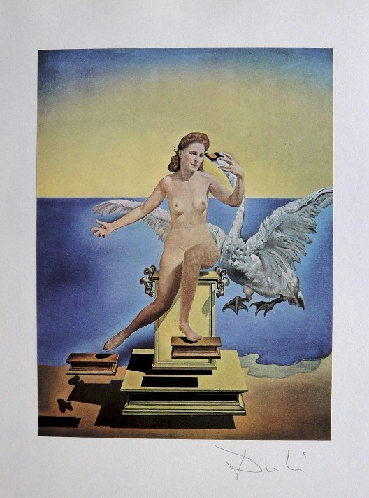 SALVADOR DALI, Signed Reproduction Print, Dali De Gala