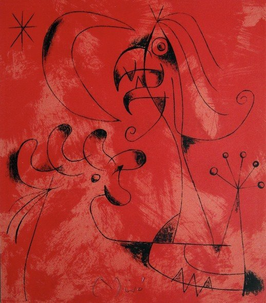 Joan MIRO, signed Lithograph, 1956