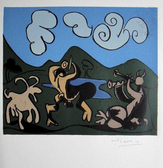 Pablo Picasso, hand signed Linoleum Cuts, 1966