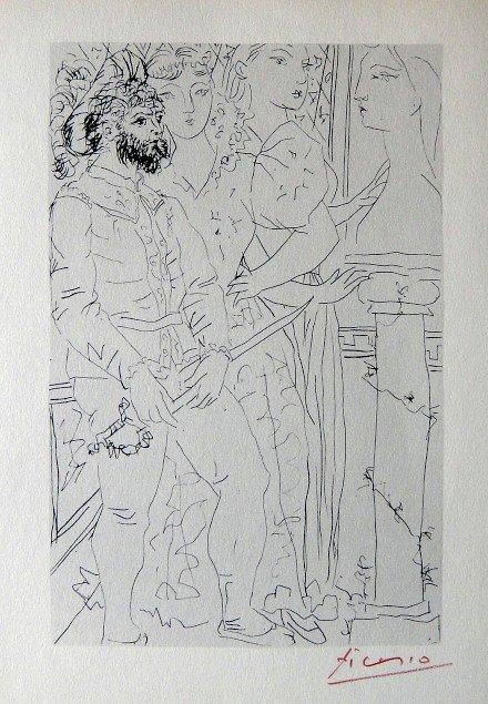 "3: PABLO PICASSO  Lithograph  ""Suite Vollard"""
