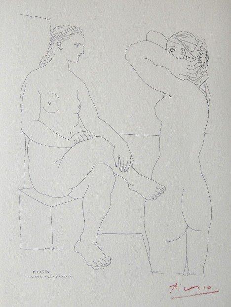 "4: PABLO PICASSO  Lithograph  ""Suite Vollard"""