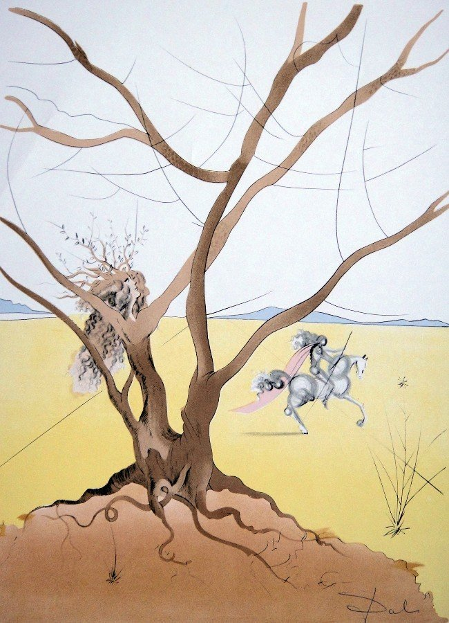 13: Salvador Dali, signed Lithograph, 1974