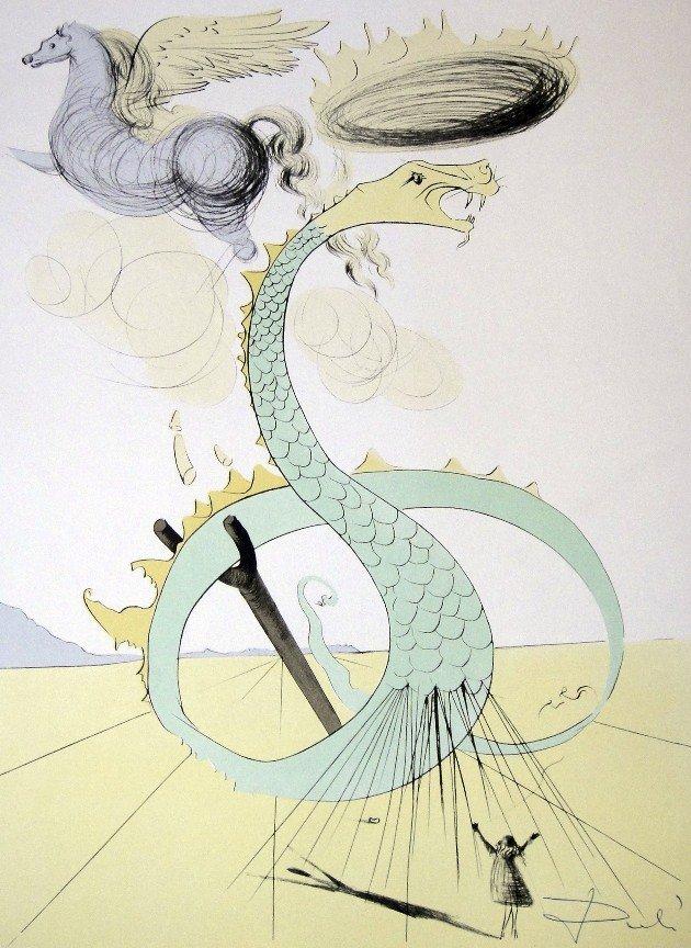 15: Salvador Dali, signed Lithograph, 1974