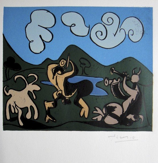 20: Pablo Picasso, hand signed Linoleum Cuts, 1966