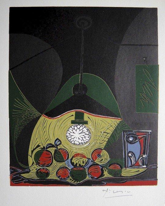 21: Pablo Picasso, hand signed Linoleum Cuts, 1966