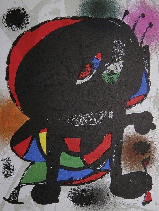 6: JOAN MIRO, Original signed Lihtograph, 1976