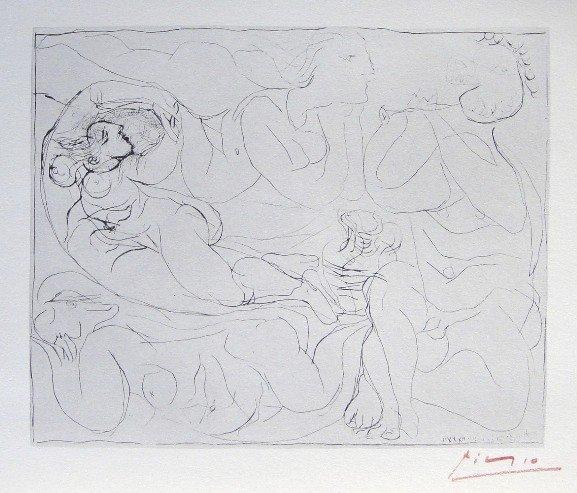 "7: PABLO PICASSO  Lithograph  ""Suite Vollard"""