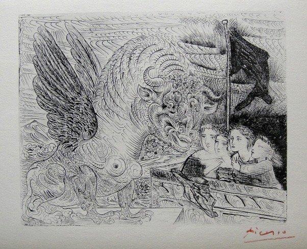 "8: PABLO PICASSO  Lithograph  ""Suite Vollard"""