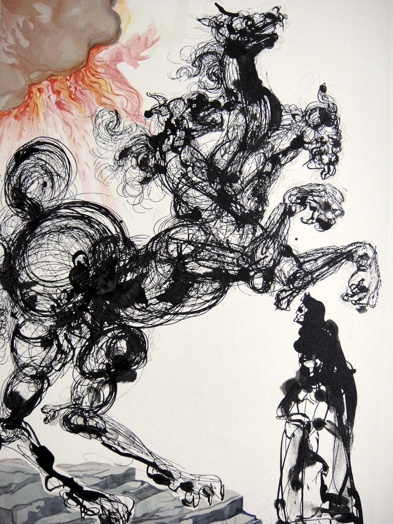87: Salvador DALI, Signed Woodcut - The Devine Comedy