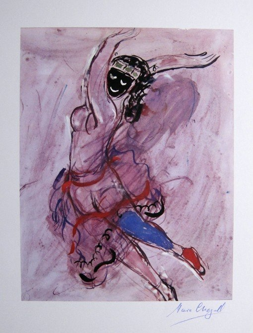 "Marc CHAGALL, signed Lithograph ""Suite Ballet"" 1969"