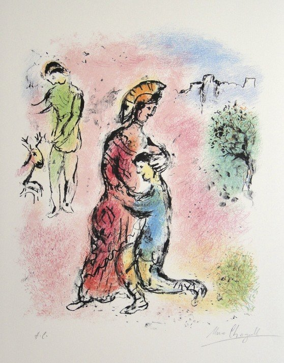 "Marc Chagall, original Lithograph ""L'Odyssee"""