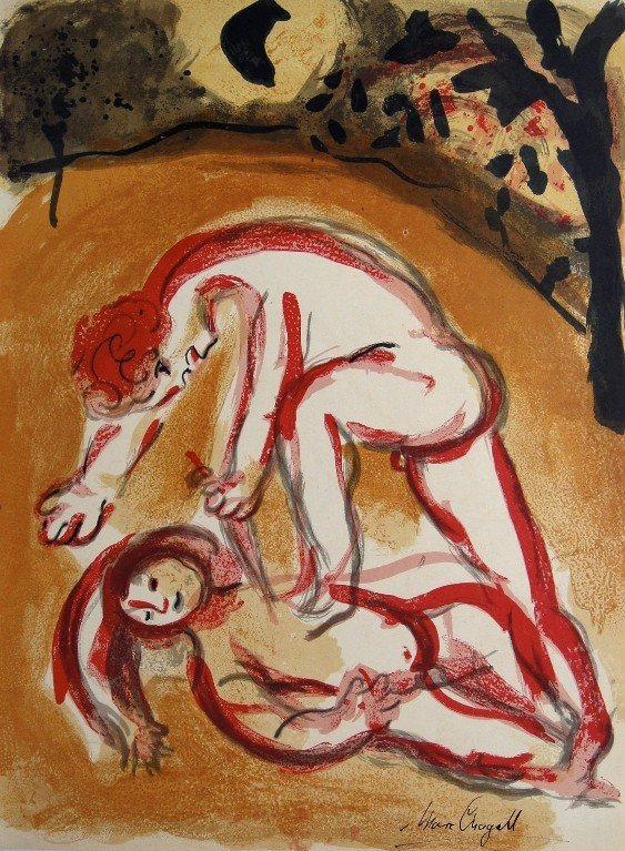"""Marc CHAGALL """"Bible"""" signed original Lithograph"""