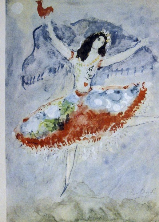 """Marc CHAGALL, signed Lithograph """"Suite Ballet"""" 1969"""