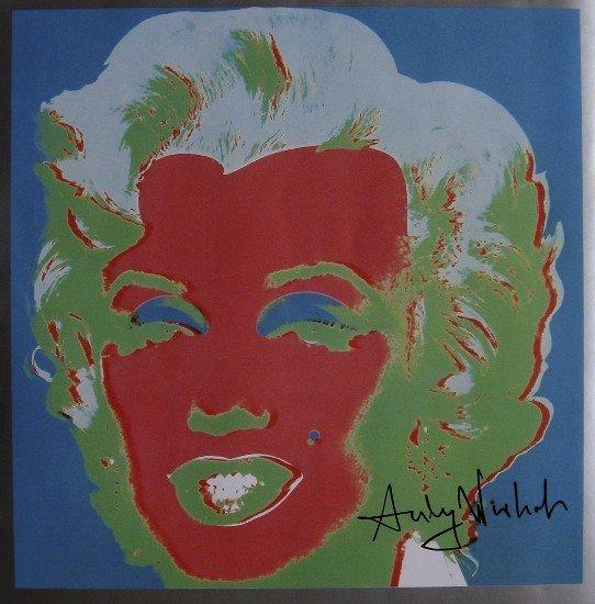 ANDY WARHOL, Signed Print, 1982