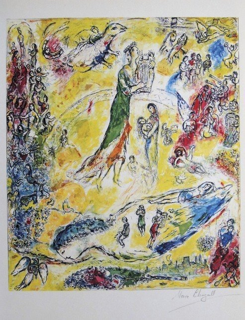 "Marc Chagall, signed Lithograph ""The Magic Flute"""