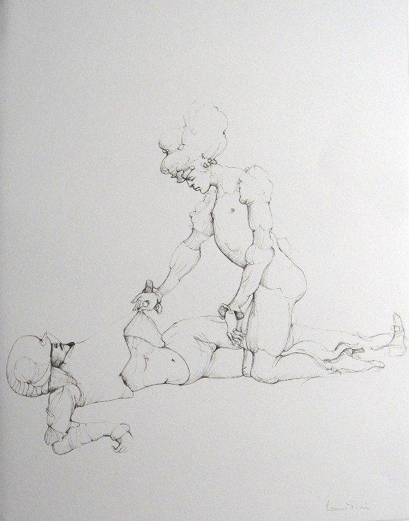 Leonor FINI, signed original Lithograph 1973