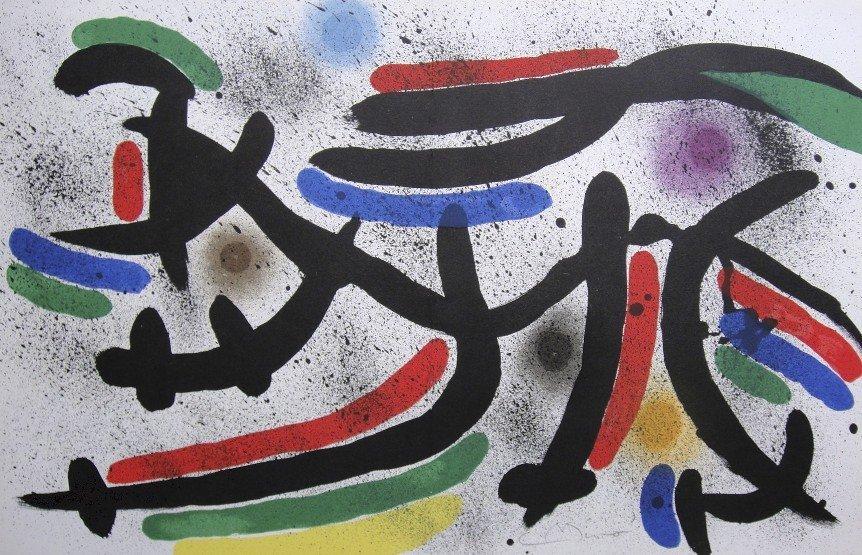 JOAN MIRO, Original signed Lithograph, 1972