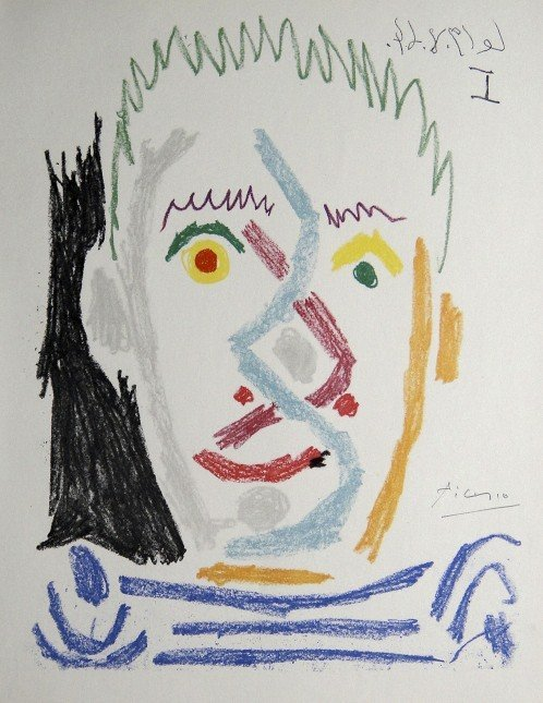 Pablo Picasso, hand signed Lithograph, 1966
