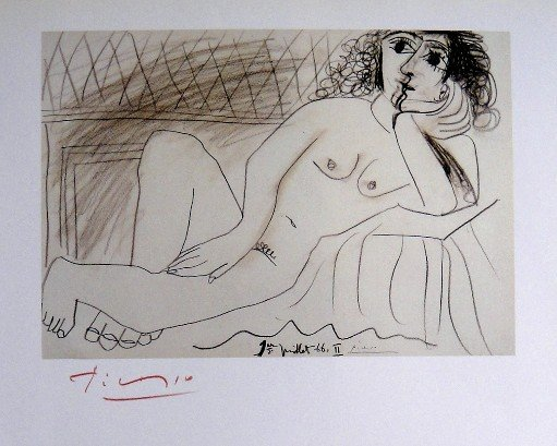 Pablo Picasso, special signed Print