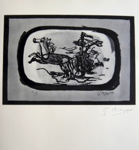GEORGES BRAQUE, Signed Print, 1963