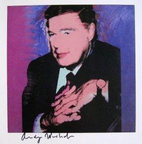 "ANDY WARHOL, Signed Print ""Portraits"", 1982"