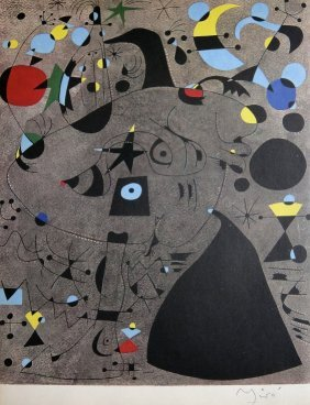 JOAN MIRO, Hand signed Lithograph