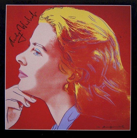 "Andy Warhol signed Print ""Ingrid Bergman"" 1983"