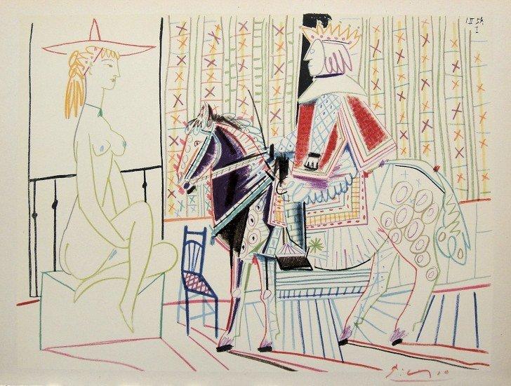 "Pablo Picasso, Lithograph ""VERVE"", 1954"