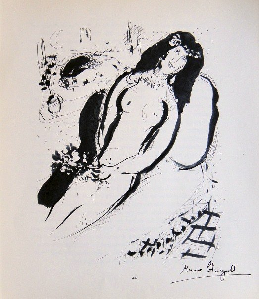 Marc Chagall, signed special Lithograph