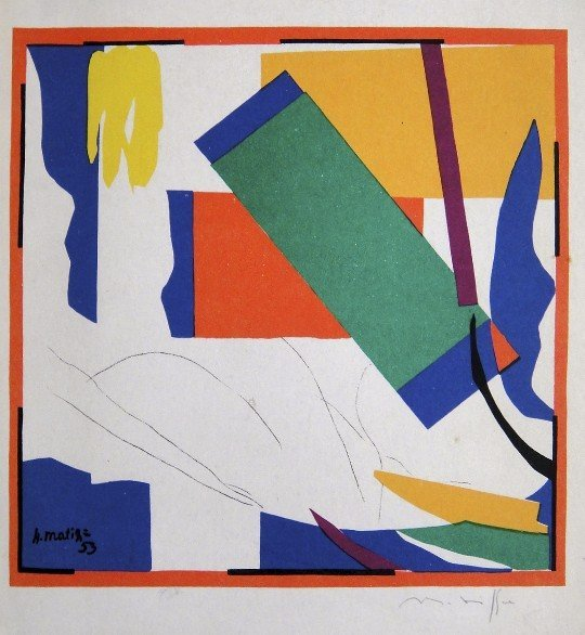 """Henri Matisse """"A Memory of Oceania"""" signed Lithograph"""