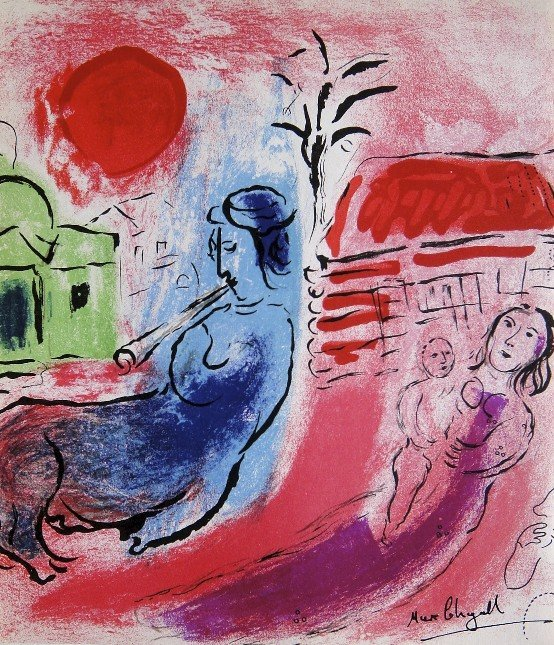 Marc Chagall, Hand signed Lithograph