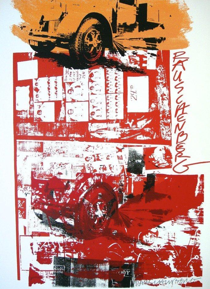 Robert Rauschenberg, signed screen print, 1984