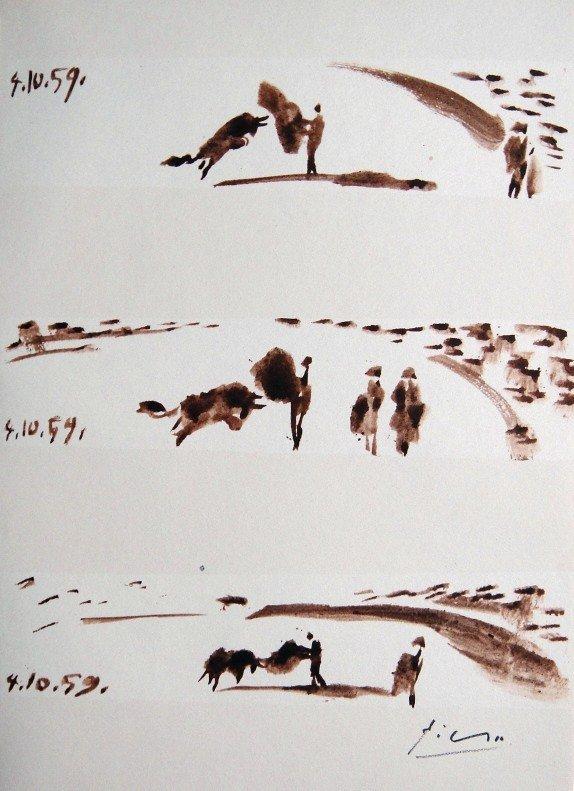 PABLO PICASSO, TOROS Y TOREROS, 1959