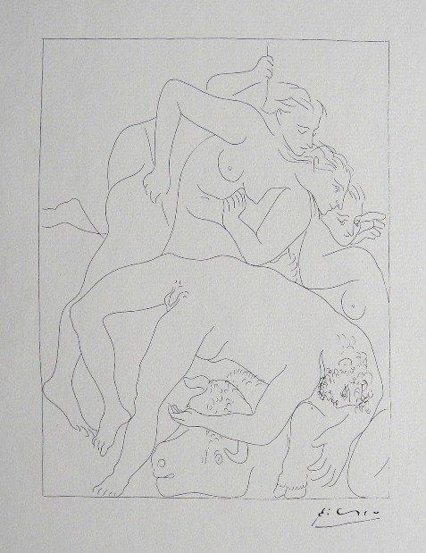 PABLO PICASSO, Signed Lithograph Les Metamorphoses