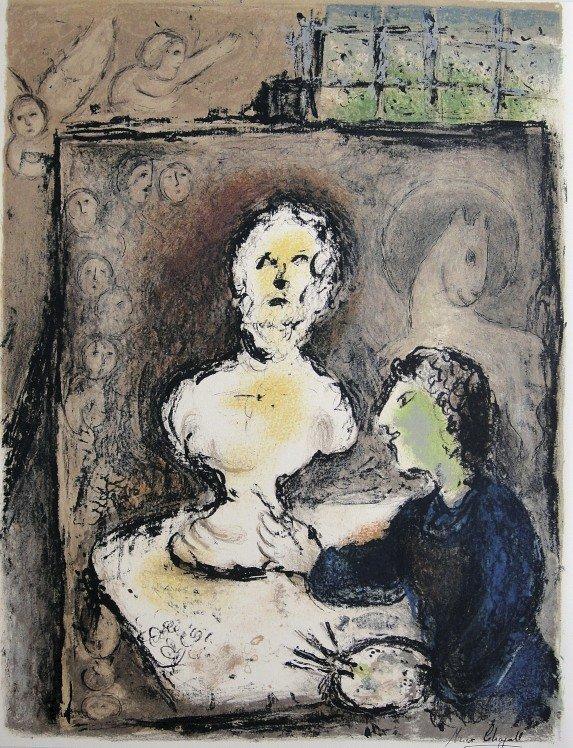 "Marc Chagall, original Lithograph ""L'Odyssee"""