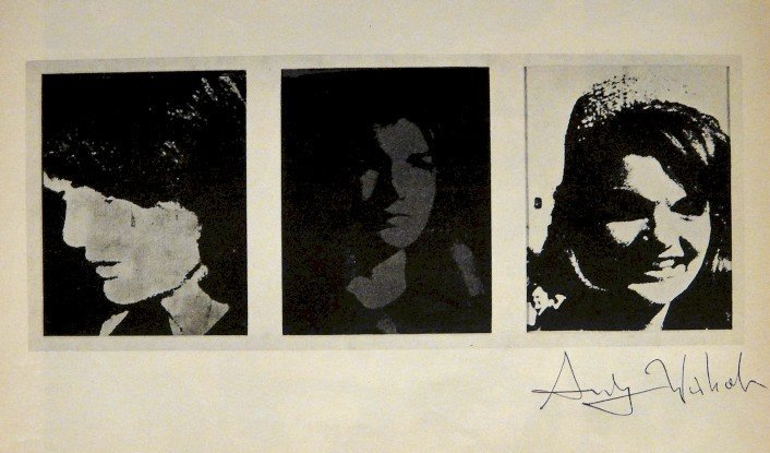 """ANDY WARHOL, Signed offset Print """"Jackie"""", 1965"""