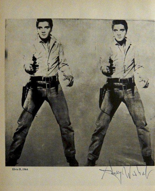 "ANDY WARHOL, Signed offset Print ""Elvis II"", 1965"
