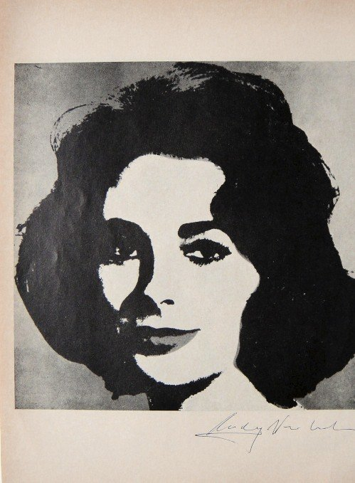 """ANDY WARHOL, Signed offset Print """"Early Liz"""", 1965"""