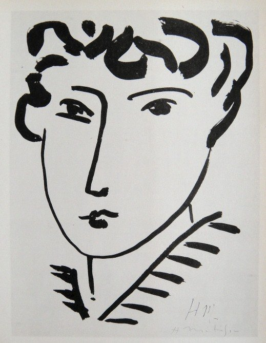 "Henri Matisse ""Femme"" signed original Lithograph"