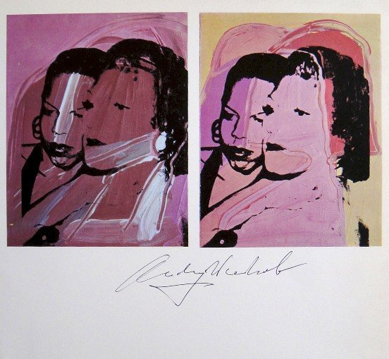Andy Warhol, signed offset Print